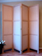 Folding Screen - 3 recessed Panels