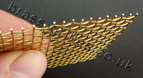 Brass Wire Grille : Brass mesh flexible woven wire mm holes cut
