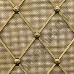 Regency Decorative Brass Grille - 54mm Diamonds