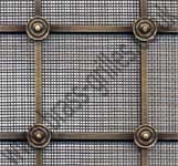 Georgian Square Grille - Antique Brass