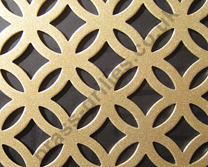 Inner Circular Gold Grille Powder Coated Steel Sheet 2000mm x 1000mm x 1mm