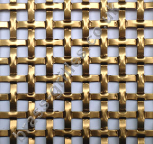 Interwoven Square Effect Bronze Grille Anodised Aluminium Sheet 1000mm x 660mm x 1.5mm