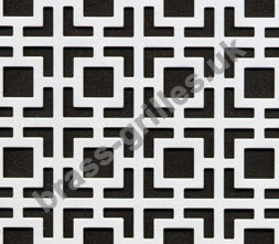 Maze White Decorative Grille Powder Coated Aluminium Sheet 1000mm x 660mm x 1mm