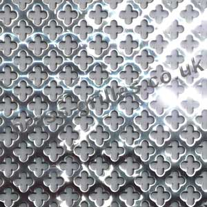 Small Clubs 6mm Polished Stainless Steel Decorative Grille Sheet 1000mm x 660mm x 1mm