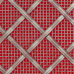 Interwoven Diamond Stainless Steel Grille.