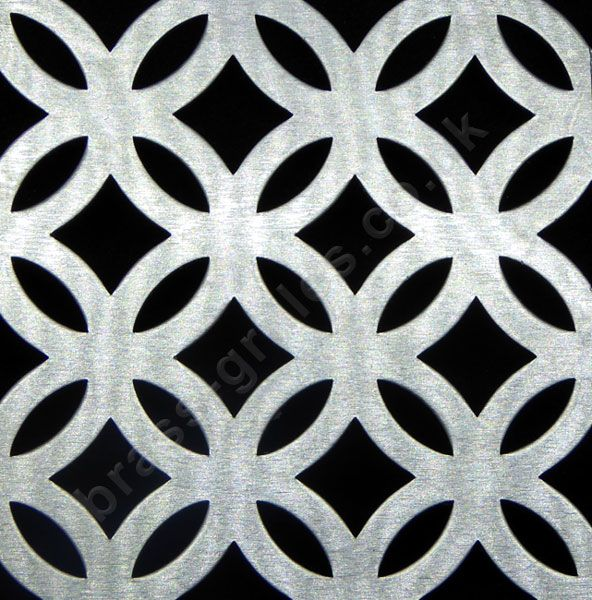 Inner Circular Decorative Metal Grille Anodised Silver