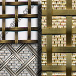 Interwoven Decorative Grilles Brass and Stainless Steel - Made to Order
