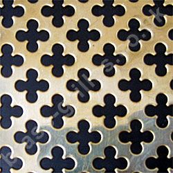 Polished Brass Grille Medium Club Perforated Sheet 2000mm x 1000mm x 0.7mm