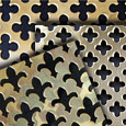 Polished Brass Perforated Decorative Grille Sheets