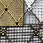 Regency Diamond Decorative Brass Grilles - Made to Order