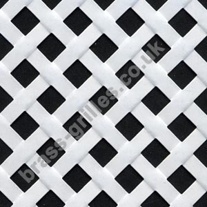 Woven Effect Diagonal Weave Decorative Grille White Powder Coated Aluminium 1000mm x 660mm x 2mm