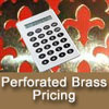 Perforated Brass Grilles Cut to Size Pricing Calculator